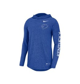 Nike Team Sports TEE, NIKE, LS, HOODED, ROYAL HEATHER, UK