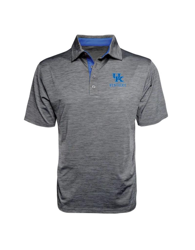 J. America POLO, SPACE DYED, GRAY/ROYAL, UK