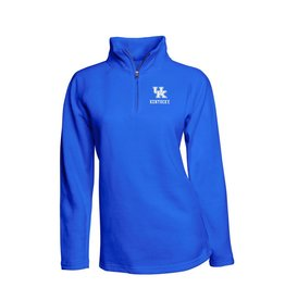PULLOVER, LADIES, 1/4 ZIP, ROYAL, UK