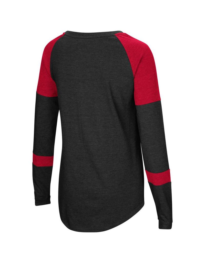 Colosseum Athletics TEE, LADIES, LS, RAGLAN, DOROTHY, RED, UL