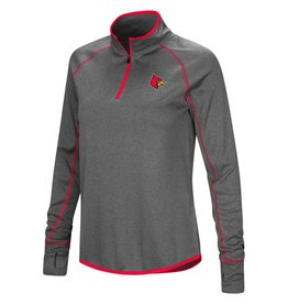 Colosseum Athletics PULLOVER, LADIES, 1/4 ZIP, SHARK, CHARCOAL, UL