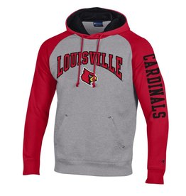 Champion Products HOODY, HERITAGE 18, GRAY/RED, UL