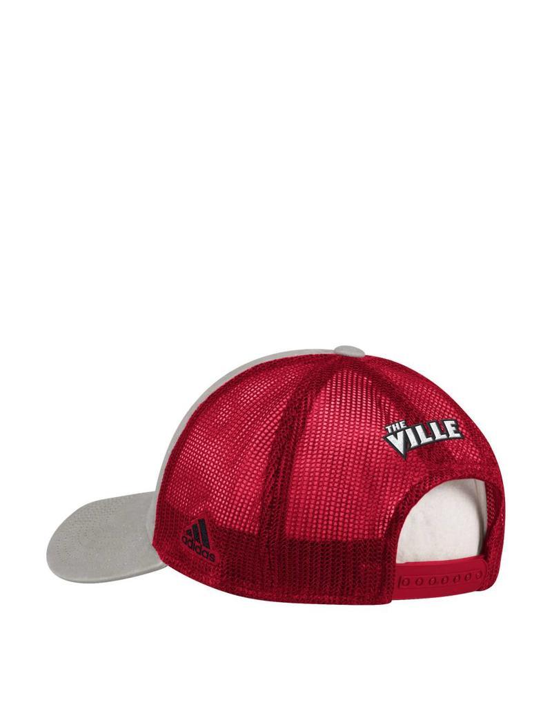 Adidas Sports Licensed HAT, ADJUSTABLE, ADIDAS, OVERDYE PRINT, RED/GRY, UL