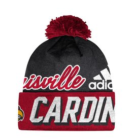 Adidas Sports Licensed KNIT, CUFFED POM, ADIDAS, RED/BLACK, UL