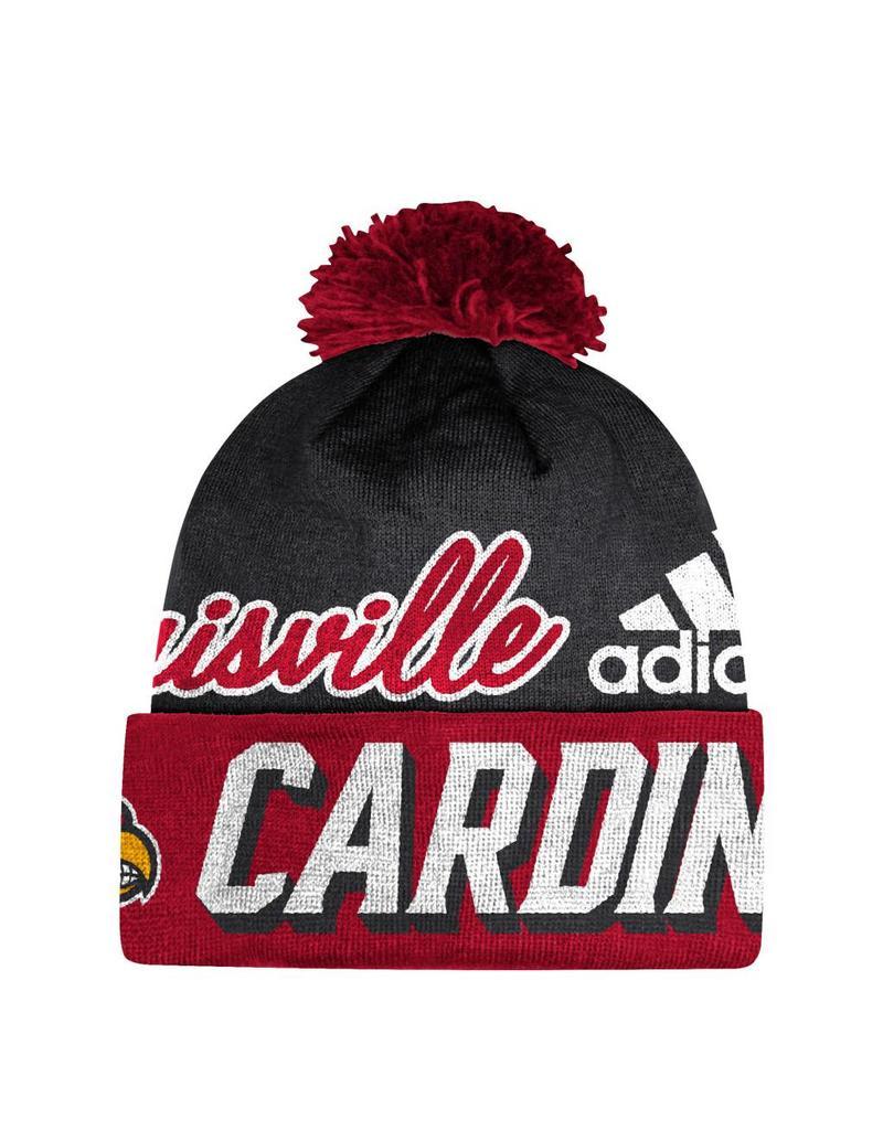Adidas Sports Licensed KNIT, CUFFED POM, ADIDAS, RED/BLACK, UL