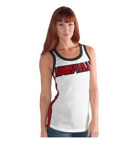 TANK, LADIES, TOUCHBACK, WHT/RED, UL