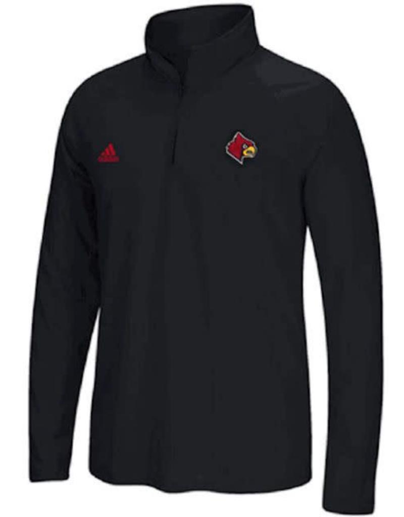 Adidas Sports Licensed PULLOVER, 1/4 ZIP, ADIDAS, CHEST WHIP, BLACK, UL