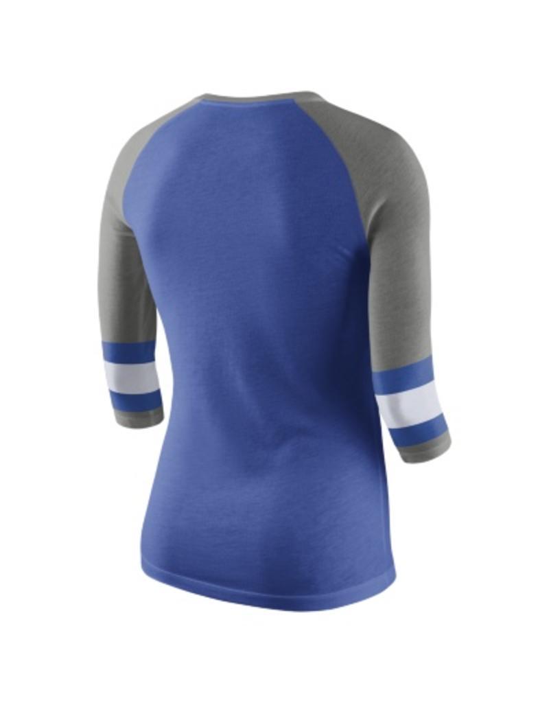 Nike Team Sports TEE, NIKE, LADIES, 3/4 SLEEVE, RAGLAN, ROYAL, UK
