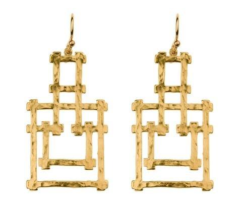 Hazel Smyth Bamboo Pagoda Dangle Earring
