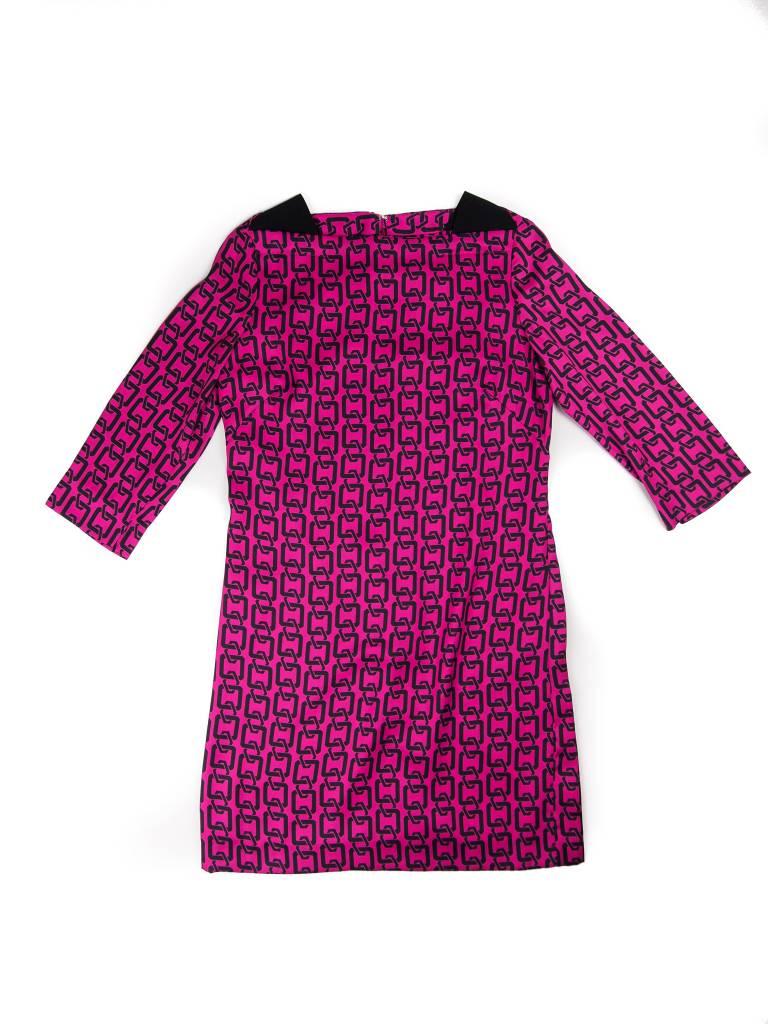 MILLY 3/4 Sleeve Julia Link Dress
