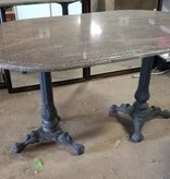 Queens Gorgeous Marble Table With Vintage Iron Legs #GRE