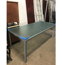 Queens Frosted Glass Conference Table #YEL
