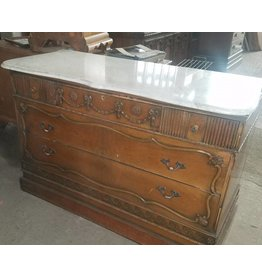 Queens Vintage Georgian Dresser With Marble Top #YEL