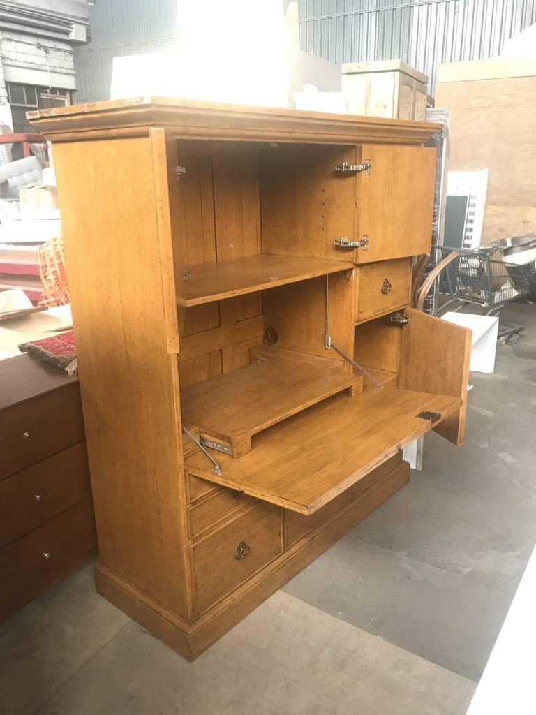 Queens Birds Eye Maple Transforming Dresser Desk #YEL