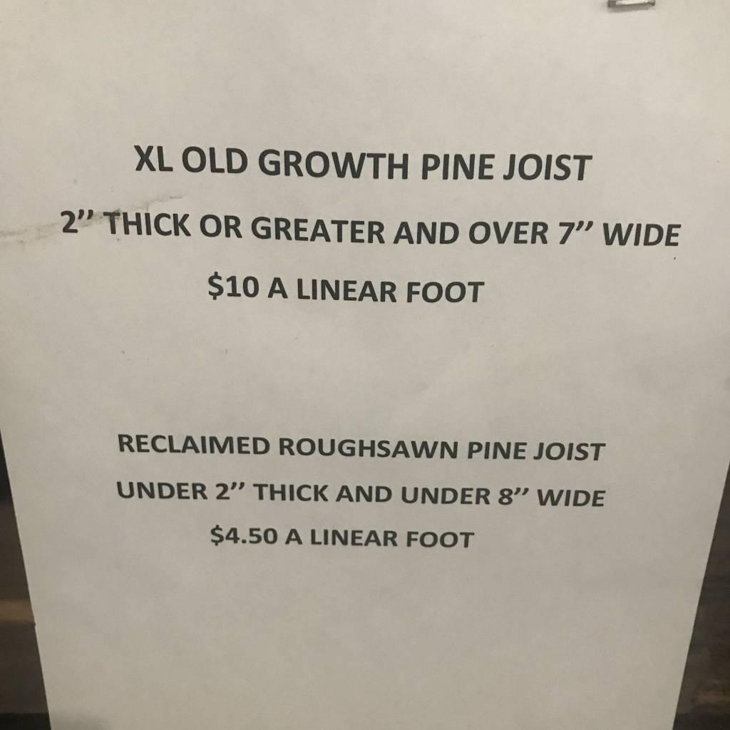 Reclaimed Pine Joist #WHI