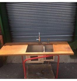 Brooklyn Zebra Wood Counter Top w/ Blanco Sink #YEL