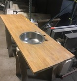 Queens Oak Countertop With Stainless Steel Sink #YEL