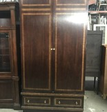 Queens Antique Oak Wardrobe #BLU