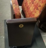 Queens Upholstered Wooden Theater Seats#blu