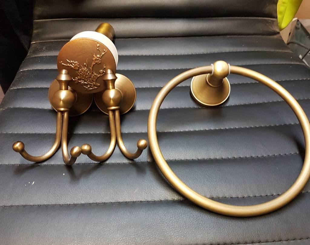 Bathroom Hardware in Antique Brass Finish #BLU