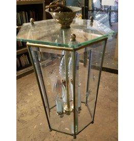 Queens Star Etched Glass Chandelier#blu
