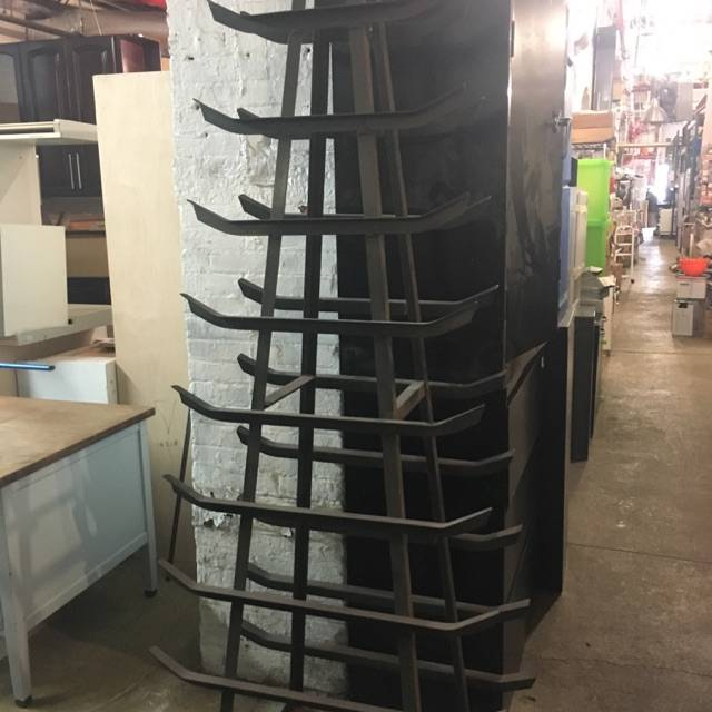 Brooklyn 9 Tier Iron Racks #BLU