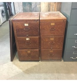 Brooklyn Antique Solid Oak Filing Cabinet #WHI