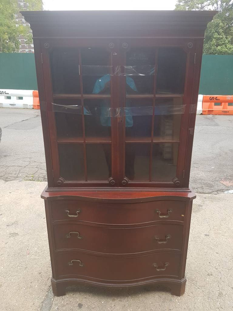 Queens Vintage Solid Cherry Armoire #BLU