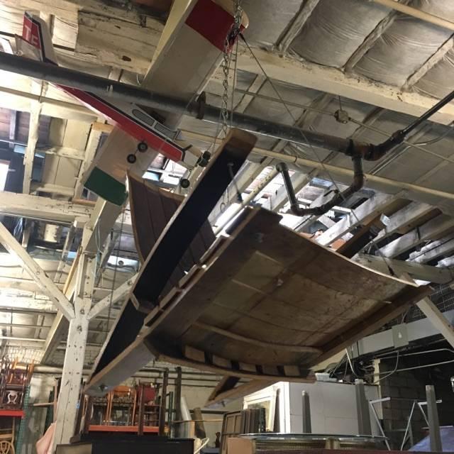 Brooklyn Reclaimed Swinging Barrel Chair #BLU
