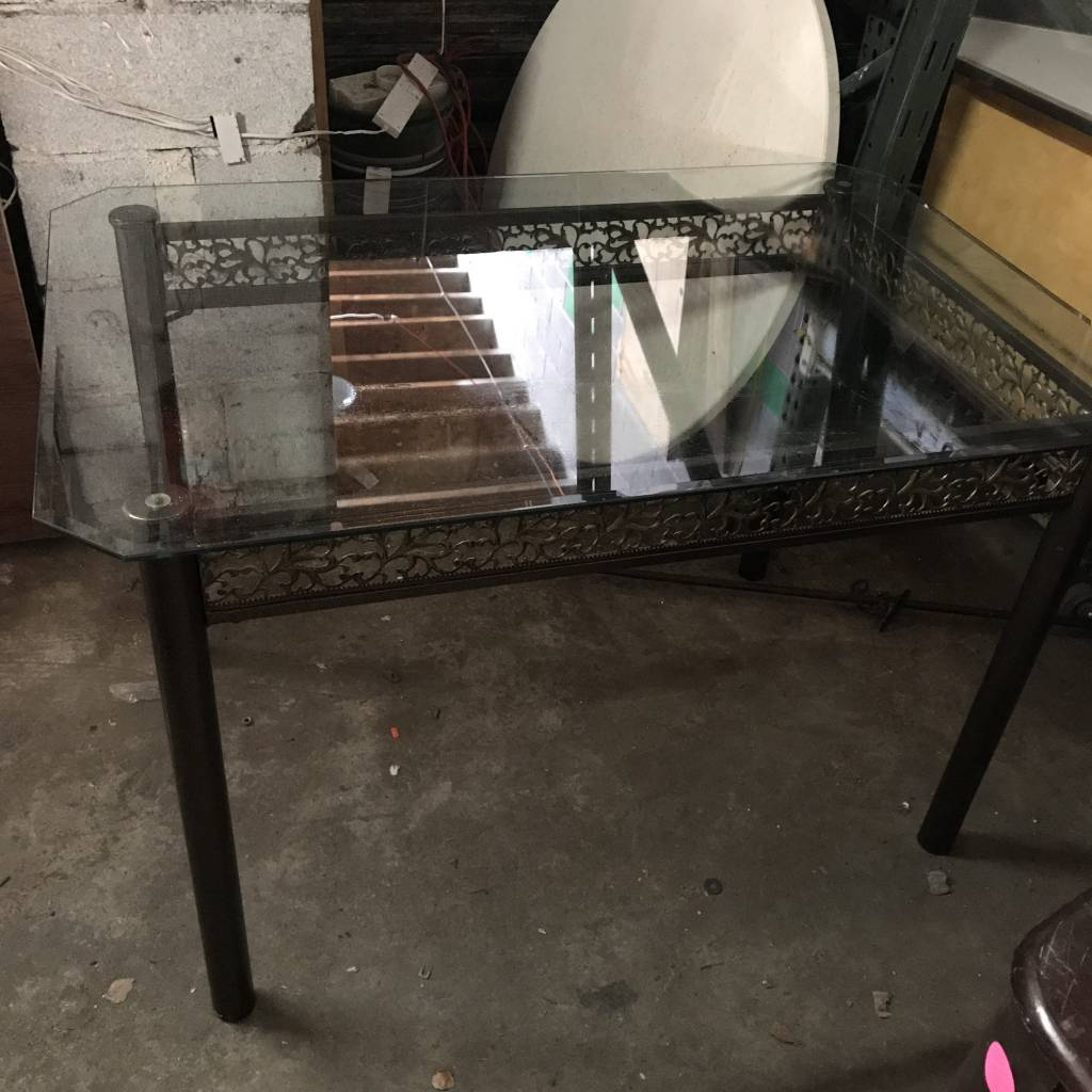 Queens Glass Top Dining Table #ORA