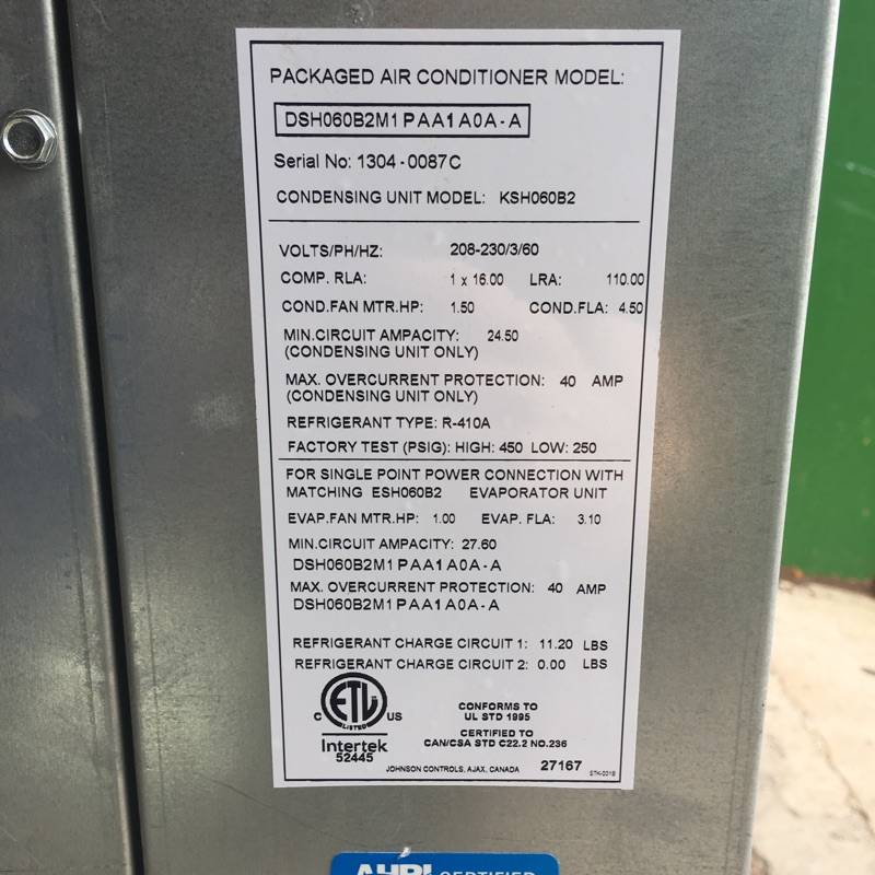 Brooklyn Commercial AC Unit #ORA