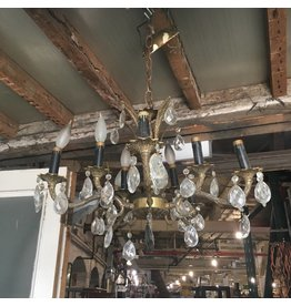 Brooklyn Antique Brass and Crystal Chandelier #ORA