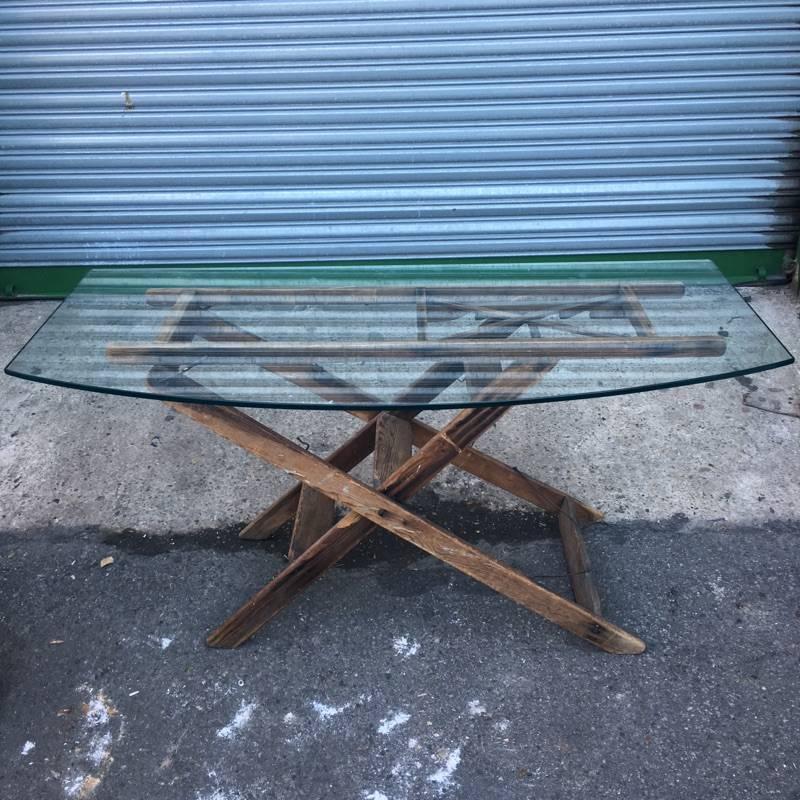 Brooklyn Reclaimed Glass Table #ORA