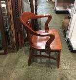 Brooklyn Solid Oak Boston Arm Chair #RED