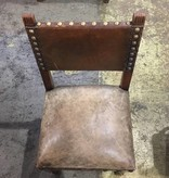 Brooklyn Vintage Distressed Leather Chair #RED