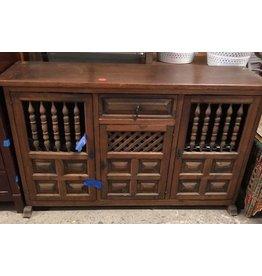 Queens Vintage Oak Storage Dresser
