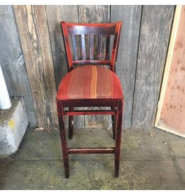 Brooklyn Rustic Bar Stool #RED
