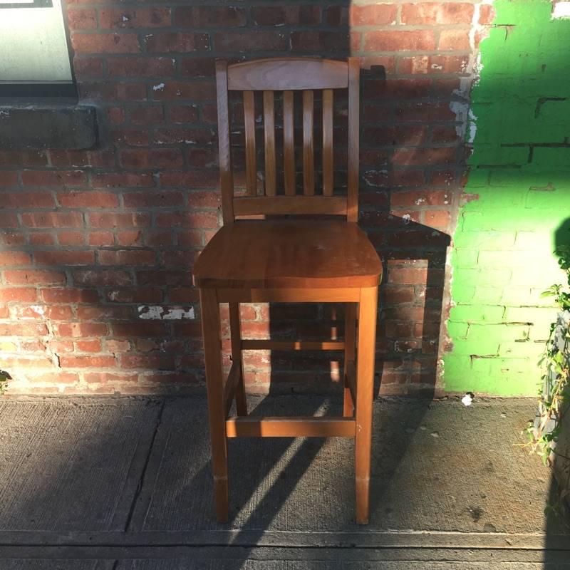 Brooklyn Maple Bar Stool #RED