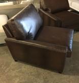 Brooklyn Genuine Leather Side Arm Chair #GRE