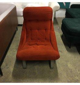 Brooklyn Art Deco Suede Chair #YEL