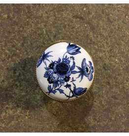 Italian Made Porcelain Knobs #BLU