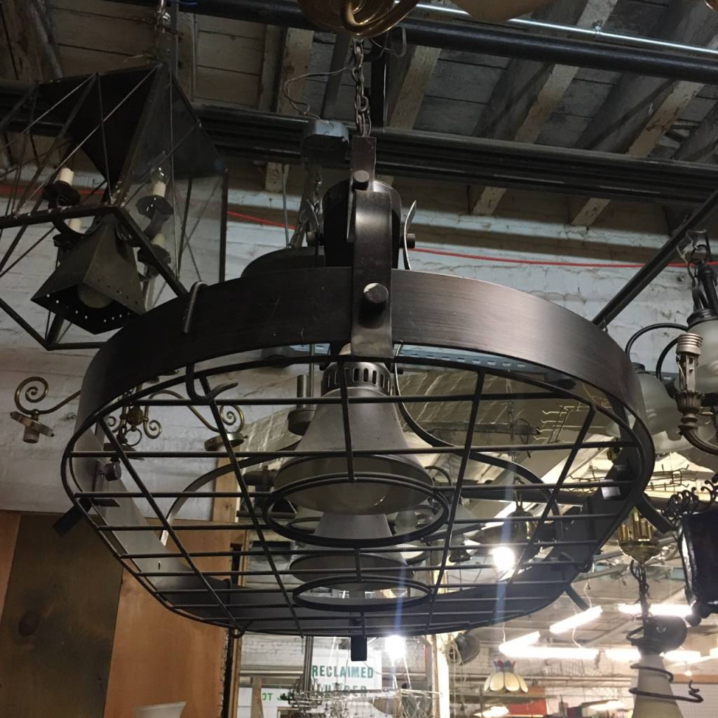 Brooklyn Industrial Chandelier #BLU