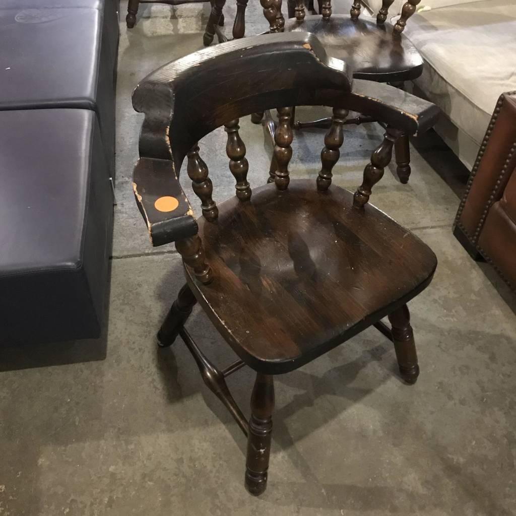 Vintage Oak Bar Chairs #ORA