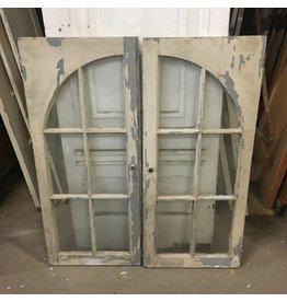 Brooklyn Set of Rustic Arch Window Doors #ORA