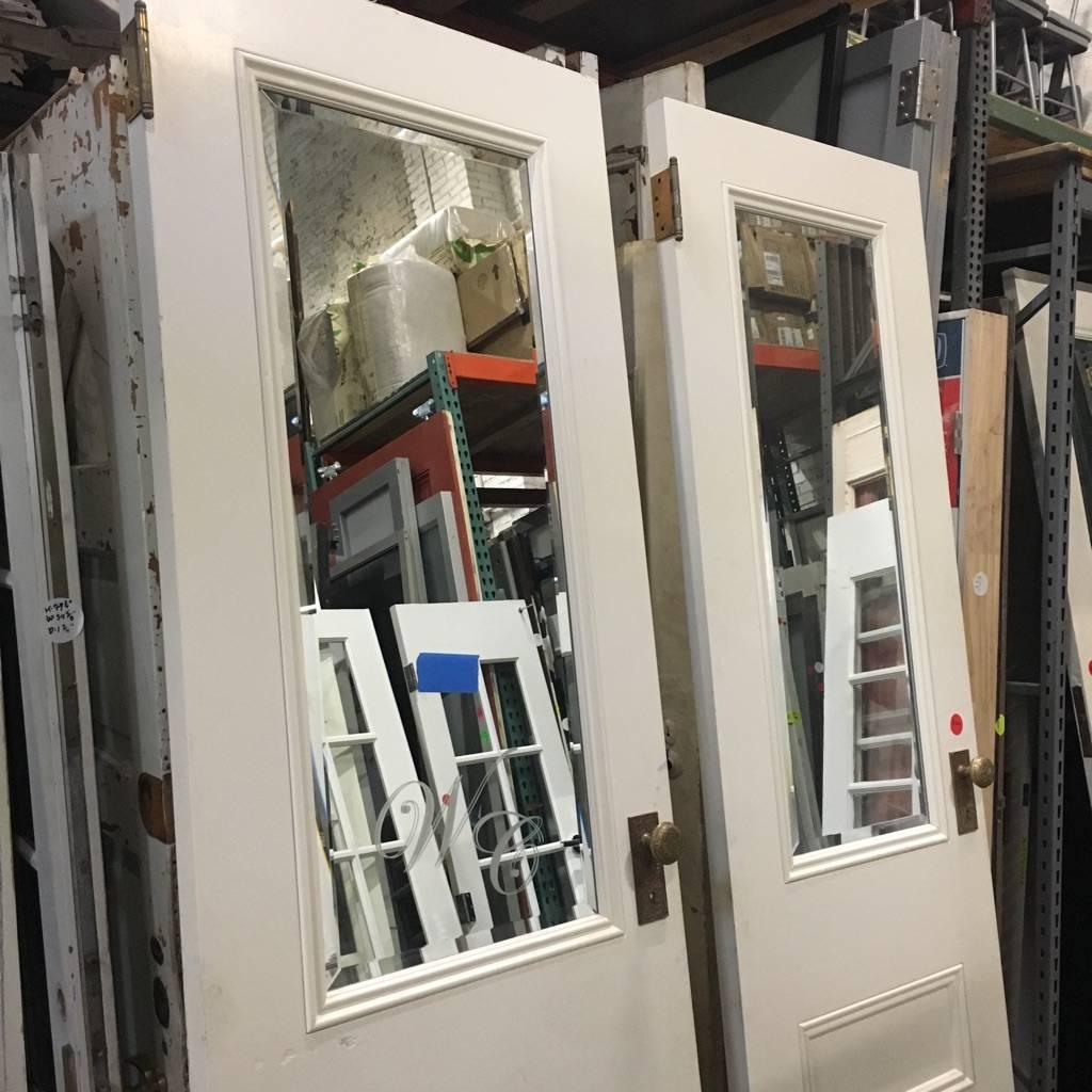 Mirrored Panel Doors #RED