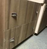 Black Walnut Veneer Office Cabinet Set #RED