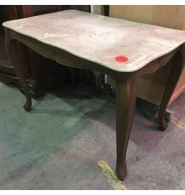 Marble Top Side Table # RED