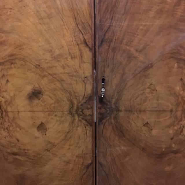 Burl Wood Veneer Armoire #PIN