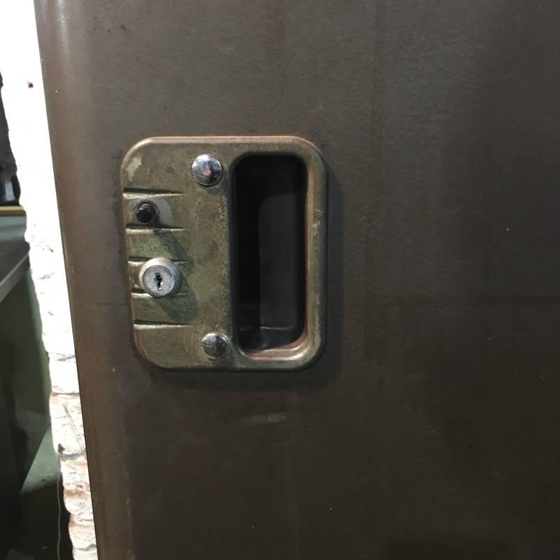 1940s Deco Steel Locker #PIN