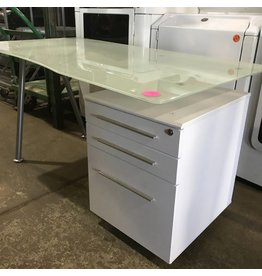 Frosted Glass Top Office Desk #PIN